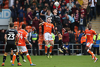 Blackpool's Oliver Turton and Bradford City's Jordan Gibson<br /> <br /> Photographer Rachel Holborn/CameraSport<br /> <br /> The EFL Sky Bet League One - Blackpool v Bradford City - Saturday September 8th 2018 - Bloomfield Road - Blackpool<br /> <br /> World Copyright &copy; 2018 CameraSport. All rights reserved. 43 Linden Ave. Countesthorpe. Leicester. England. LE8 5PG - Tel: +44 (0) 116 277 4147 - admin@camerasport.com - www.camerasport.com