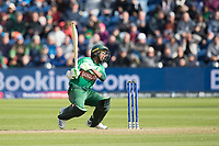Mustafizur Rahman (Bangladesh) cannot avoid a well directed short delivery and is caught behind to conclude the match during England vs Bangladesh, ICC World Cup Cricket at Sophia Gardens Cardiff on 8th June 2019