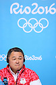 Yasuhiro Yamashita (JPN), <br /> AUGUST 1, 2016  : <br /> Yasuhiro Yamashita<br /> at Main Press Center and Yuji Takada attend a press conference <br /> during the Rio 2016 Olympic Games in Rio de Janeiro, Brazil. <br /> (Photo by Yohei Osada/AFLO SPORT)