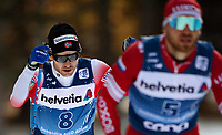 1st January 2020, Toblach, South Tyrol , Italy;  Sjur Rothe of Norway and Artem Maltsev of Russia competes in the mens 15 km classic technique pursuit during Tour de Ski on January 1, 2020 in Toblach.