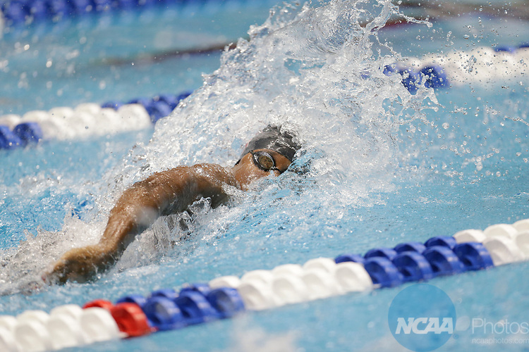 INDIANAPOLIS, IN - MARCH 18: Simone Manuel swimming for Stanford in the 100-meter freestyle during the Division I Women's Swimming & Diving Championships held at the Indiana University Natatorium on March 18, 2017 in Indianapolis, Indiana. (Photo by A.J. Mast/NCAA Photos via Getty Images)