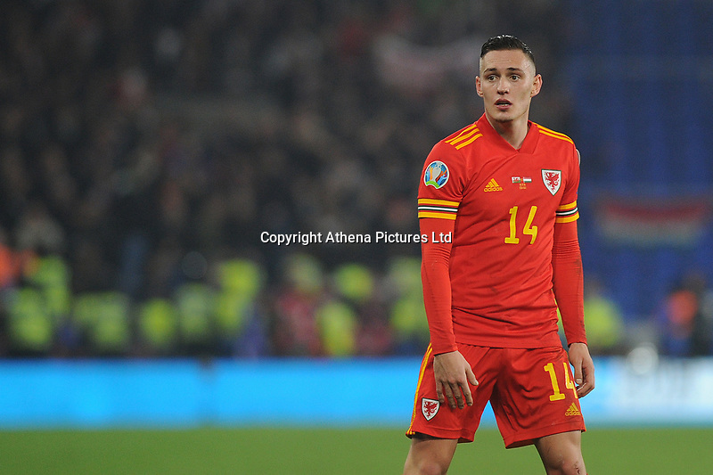 Connor Roberts of Wales during the UEFA Euro 2020 Group E Qualifier match between Wales and Hungary at the Cardiff City Stadium in Cardiff, Wales, UK. Tuesday 19th November 2019