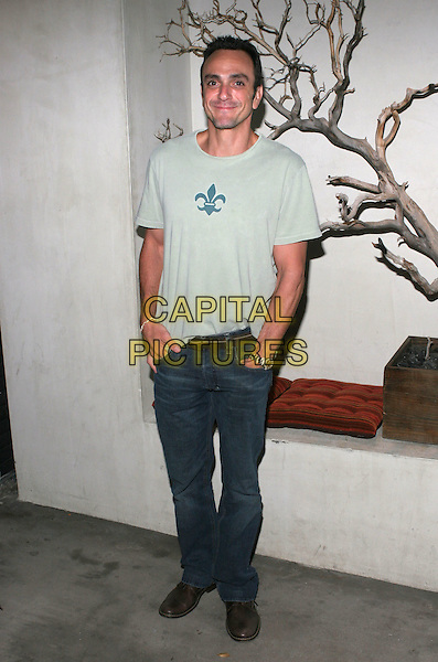 HANK AZARIA.Hurricane Katrina Relief Benefit sponsored by Grey Goose Vodka held at Falcon, Hollywood, California..September 26th, 2005.Photo Credit: Zach Lipp/AdMedia/Capital Pictures.full length hands in pockets grey gray t-shirt t shirt jeans denim.www.capitalpictures.com.sales@capitalpictures.com.© Capital Pictures.