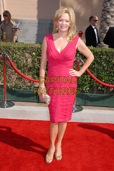 JEAN SMART.59th Annual Primetime Creative Arts Emmys at the Shrine Auditorium, Los Angeles, California, USA, .8 September 2007..full length pink dress hand on hip.CAP/ADM/BP.©Byron Purvis/AdMedia/Capital Pictures.