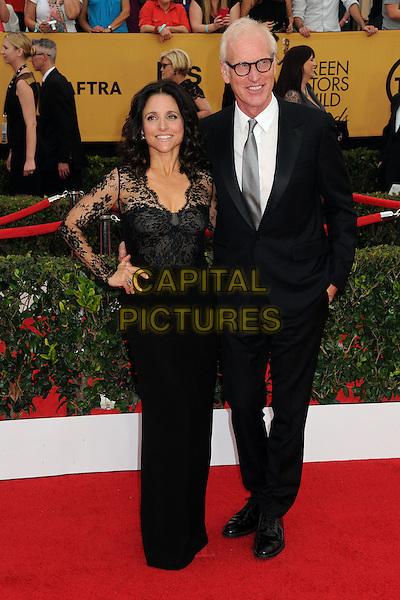 25 January 2015 - Los Angeles, California - Julia Louis-Dreyfus, Brad Hall. 21st Annual Screen Actors Guild Awards - Arrivals held at The Shrine Auditorium. <br /> CAP/ADM/BP<br /> &copy;BP/ADM/Capital Pictures