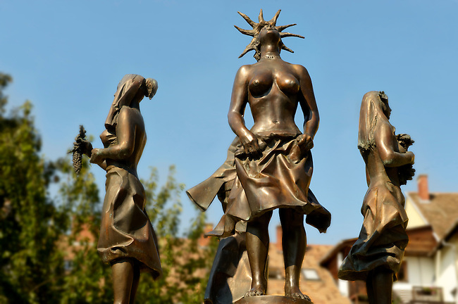 Statue of the four seasons - Tapolca, Balaton, Hungary