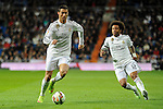 Real Madrid´s Cristiano Ronaldo and Marcelo Vieira during 2014-15 La Liga match between Real Madrid and Levante UD at Santiago Bernabeu stadium in Madrid, Spain. March 15, 2015. (ALTERPHOTOS/Luis Fernandez)