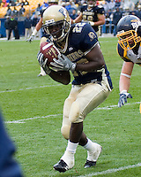 30 September 2006: Pitt running back Kevin Collier makes a catch.  The Pitt Panthers defeated the Toledo Rockets 45-3 on September 30, 2006 at Heinz Field, Pittsburgh, Pennsylvania.