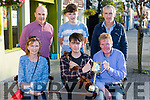 Conor Daly Rockchapel is presented the Mike Kenny Perpetual Cup for best young musician at the Mike Kenny festival in Castleisland on Saturday evening l-r: Nollag and Conor Daly, Ted Kenny. Back row: Peter Browne, Cian Daly and Ted Daly