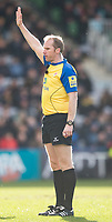 Referee Wayne Barnes<br /> <br /> Photographer Bob Bradford/CameraSport<br /> <br /> Aviva Premiership Round 14 - Harlequins v Wasps - Sunday 11th February 2018 - Twickenham Stoop - London<br /> <br /> World Copyright &copy; 2018 CameraSport. All rights reserved. 43 Linden Ave. Countesthorpe. Leicester. England. LE8 5PG - Tel: +44 (0) 116 277 4147 - admin@camerasport.com - www.camerasport.com