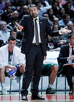 Zalgiris Kaunas' coach Joan Plaza during Euroleague 2012/2013 match.January 11,2013. (ALTERPHOTOS/Acero) NortePHOTO