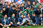 Japan team group (JPN), MARCH 29, 2016 - Football / Soccer : FIFA World Cup Russia 2018 Asian Qualifier Second Round Group E match between Japan 5-0 Syria at Saitama Stadium 2002 in Saitama, Japan. (Photo by Yohei Osada/AFLO SPORT)