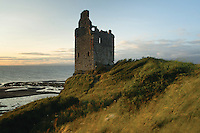 Greenan Tower from above Greenan Shore, Ayr, Ayrshire<br /> <br /> Copyright www.scottishhorizons.co.uk/Keith Fergus 2011 All Rights Reserved