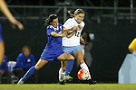 16 October 2015: North Carolina's Jessie Scarpa (12) and Duke's Christina Gibbons (31). The University of North Carolina Tar Heels hosted the Duke University Blue Devils at Fetzer Field in Chapel Hill, NC in a 2015 NCAA Division I Women's Soccer game. Duke won the game 1-0.