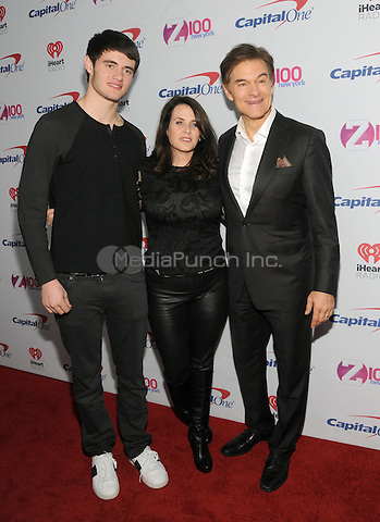 NEW YORK, NY - DECEMBER 9 : Oliver Oz, Lisa Oz and Dr. Mehmet Oz at the Z100 Jingle Ball 2016 at Madison Square Garden in New York City on December 9, 2016. Credit: John Palmer/MediaPunch