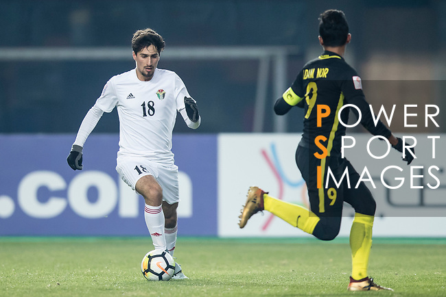 Malaysia vs Jordan during the AFC U23 Championship China 2018 Group C match at Changshu Sports Center on 13 January 2018, in Changshu, China. Photo by Yu Chun Christopher Wong / Power Sport Images