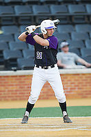 Josh Spano (21) of the High Point Panthers at bat against the Wake Forest Demon Deacons at Wake Forest Baseball Park on April 2, 2014 in Winston-Salem, North Carolina.  The Demon Deacons defeated the Panthers 10-6.  (Brian Westerholt/Four Seam Images)