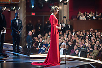 Allison Janney accepts the Oscar&reg; for performance by an actress in a supporting role for work on &ldquo;I, Tonya&rdquo; during the live ABC Telecast of The 90th Oscars&reg; at the Dolby&reg; Theatre in Hollywood, CA on Sunday, March 4, 2018.<br /> *Editorial Use Only*<br /> CAP/PLF/AMPAS<br /> Supplied by Capital Pictures