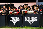 Public attend a Dressage demonstration as part of the Longines Hong Kong Masters on 14 February 2015, at the Asia World Expo, outskirts Hong Kong, China. Photo by Victor Fraile / Power Sport Images