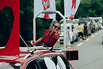 The publicity caravan passes by before the race during Stage 17 of the 2019 Tour de France running 200km from Pont du Gard to Gap, France. 24th July 2019.<br /> Picture: ASO/Thomas Maheux | Cyclefile<br /> All photos usage must carry mandatory copyright credit (© Cyclefile | ASO/Thomas Maheux)