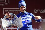 Julian Alaphilippe (FRA) Deceuninck-Quick Step wins Strade Bianche 2019 running 184km from Siena to Siena, held over the white gravel roads of Tuscany, Italy. 9th March 2019.<br /> Picture: Eoin Clarke | Cyclefile<br /> <br /> <br /> All photos usage must carry mandatory copyright credit (&copy; Cyclefile | Eoin Clarke)