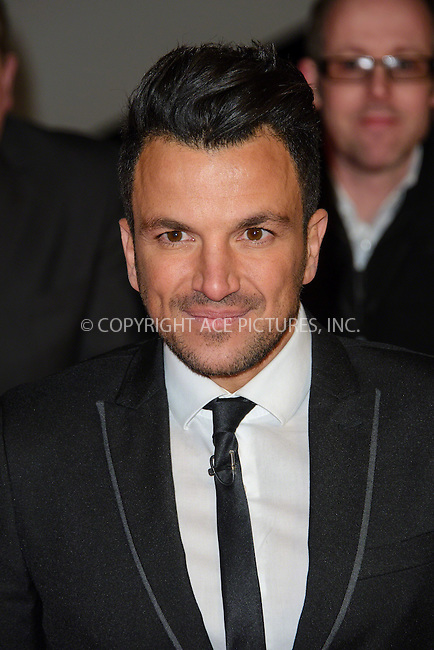 WWW.ACEPIXS.COM<br /> <br /> January 20 2015, London<br /> <br /> Peter Andre attends the National Television Awards at the O2 Arena on January 21 2015 in London<br /> <br /> <br /> By Line: Famous/ACE Pictures<br /> <br /> <br /> ACE Pictures, Inc.<br /> tel: 646 769 0430<br /> Email: info@acepixs.com<br /> www.acepixs.com