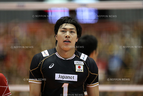 Kunihiro Shimizu (JPN),<br /> JUNE 1, 2016 - Volleyball : Men's Volleyball World Final Qualification for the Rio de Janeiro Olympics 2016 <br /> match between Japan 1-3 Iran at Tokyo Metropolitan Gymnasium, Tokyo, Japan. (Photo by AFLO SPORT)