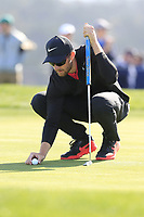 Patrick Rodgers (USA) at the 6th green during Sunday's Final Round of the 2018 AT&amp;T Pebble Beach Pro-Am, held on Pebble Beach Golf Course, Monterey,  California, USA. 11th February 2018.<br /> Picture: Eoin Clarke | Golffile<br /> <br /> <br /> All photos usage must carry mandatory copyright credit (&copy; Golffile | Eoin Clarke)