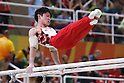 Kohei Uchimura (JPN), <br /> AUGUST 6, 2016 - Artistic Gymnastics : <br /> Men's Qualification <br /> Parallel Bars <br /> at Rio Olympic Arena <br /> during the Rio 2016 Olympic Games in Rio de Janeiro, Brazil. <br /> (Photo by Sho Tamura/AFLO SPORT)