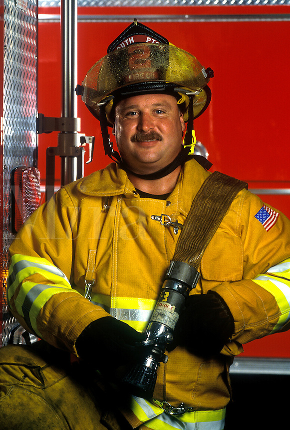 Portrait of a fireman.