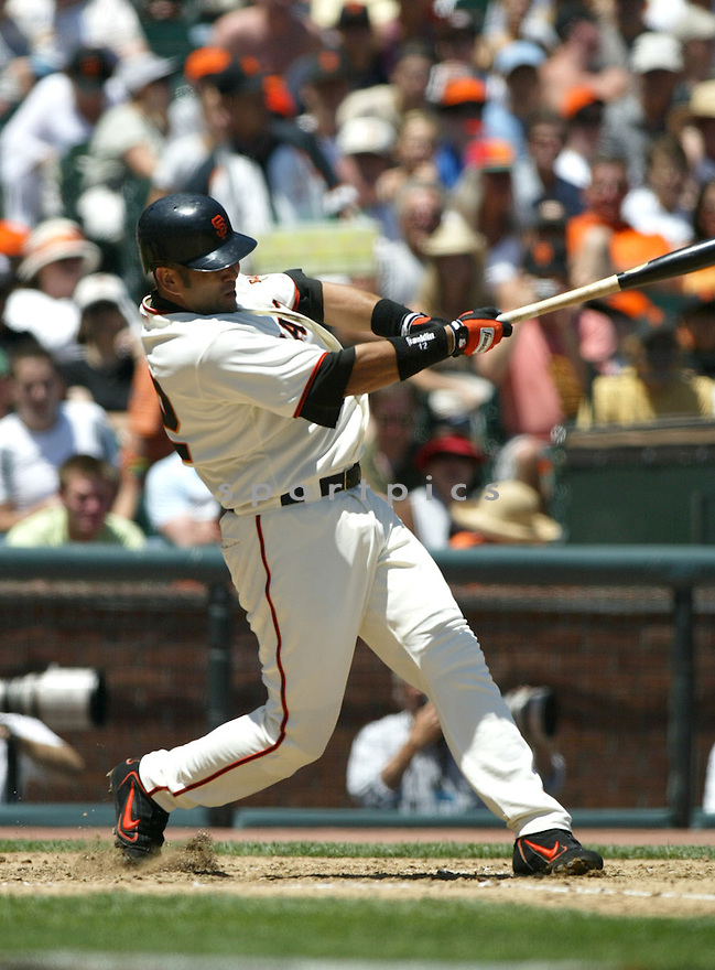 Edgardo Alfonzo in action during the Florida Marlins at San Francisco Giants game on July 24, 2005...Marlins win 4-1..Rob Holt / SportPics