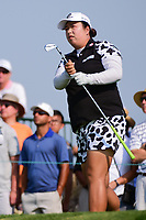 Shanshan Feng (CHN) watches her tee shot on 16 during Thursday's first round of the 72nd U.S. Women's Open Championship, at Trump National Golf Club, Bedminster, New Jersey. 7/13/2017.<br /> Picture: Golffile | Ken Murray<br /> <br /> <br /> All photo usage must carry mandatory copyright credit (&copy; Golffile | Ken Murray)