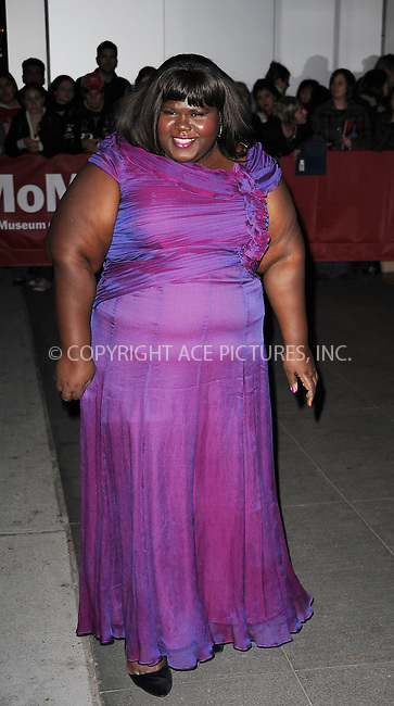WWW.ACEPIXS.COM . . . . . ....November 17 2009, New York City....Actress Gabourey Sidibe arriving at a Tribute to Tim Burton at The Museum of Modern Art on November 17, 2009 in New York City.....Please byline: KRISTIN CALLAHAN - ACEPIXS.COM.. . . . . . ..Ace Pictures, Inc:  ..tel: (212) 243 8787 or (646) 769 0430..e-mail: info@acepixs.com..web: http://www.acepixs.com