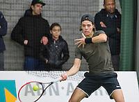 Rotterdam, Netherlands, Januari 24, 2016,  ABNAMROWTT Supermatch, Sven den Exter (NED)<br /> Photo: Tennisimages/Henk Koster