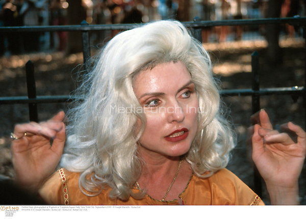 Debbie Harry photographed at Wigstock in Tompkins Square Park, New York City. September 6,1993.  © Joseph Marzullo / MediaPunch