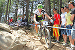 27.07.2013 La Massana, Andorra. UCI Mountain Bike World Cup. Picture show  Ondrej Cink (CZE) in action during Cross-Country Final at Vallnord