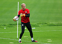 Goalkeeper in action during the Wales Training Session at the Vale Resort, Hensol, Wales, UK. Tuesday 29 August 2017