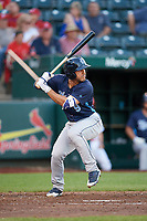 Corpus Christi Hooks right fielder Ramon Laureano (9) at bat during a game against the Springfield Cardinals on May 30, 2017 at Hammons Field in Springfield, Missouri.  Springfield defeated Corpus Christi 4-3.  (Mike Janes/Four Seam Images)