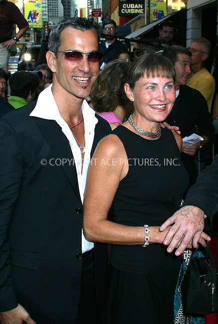 "Opening night for Broadway's newest and hottest show, ""Hairspray"" at Neil Simon Theatre. New York, August 15, 2002. Pictured are.Jack Mitchell and Cherry Jones Please byline: Alecsey Boldeskul/NY Photo Press.   ..*PAY-PER-USE*      ....NY Photo Press:  ..phone (646) 267-6913;   ..e-mail: info@nyphotopress.com"