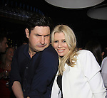 The Gossip Table starring host Rob Shuter (Days of Our Lives) poses with The Real Housewives New York Aviva Drescher at the Launch Party to celebrate our new VH1 morning show beginning June 3 - party was on May 30, 2013 at Catch Roof, New York City, New York. (Photo by Sue Coflin/Max Photos)