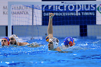 6 PRIOTEASA Andrei ROMANIA celebrates  <br /> Budapest 14/01/2020 Duna Arena <br /> ROMANIA (white caps) Vs. NETHERLANDS (blue caps) Men  <br /> XXXIV LEN European Water Polo Championships 2020<br /> Photo  © Andrea Staccioli / Deepbluemedia / Insidefoto