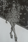 """""""Naomi Campbell wears Alexander McQueen""""<br /> 27 inches x 18 inches. Pencil on paper"""