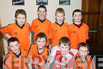 Community Games Indoor Soccer U13's: Taking part in the indoor soccer U13's  qualifiers at St Senan's Sports Hall, Mountcoal, Listowel on Sunday were  the .team representing Killarney South: Front: Cian Gammell, David Shaw, Lorcan McMonagle & Luke O'Donoghue, Back: Jamsie O'Connor, Oisin Shannon, Dean Farrell & David Griffin.