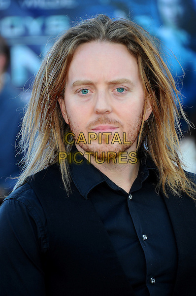 Tim Minchin.UK Premiere of 'Cowboys and Aliens' at the Cineworld cinema at the O2 Arena, London, England..August 11th 2011.headshot portrait black blue shirt stubble facial hair .CAP/CJ.©Chris Joseph/Capital Pictures.