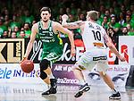 S&ouml;dert&auml;lje 2015-04-19 Basket SM-Final 1 S&ouml;dert&auml;lje Kings - Uppsala Basket :  <br /> S&ouml;dert&auml;lje Kings Darko Jukic i kamp om bollen med Uppsalas Axel Nordstr&ouml;m under matchen mellan S&ouml;dert&auml;lje Kings och Uppsala Basket <br /> (Foto: Kenta J&ouml;nsson) Nyckelord:  S&ouml;dert&auml;lje Kings SBBK T&auml;ljehallen Basketligan SM SM-Final Final Uppsala Basket