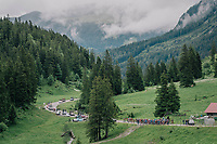 up the first climb<br /> <br /> Stage 5: Gstaad &gt; Leukerbad (155km)<br /> 82nd Tour de Suisse 2018 (2.UWT)