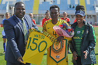 20190306 - PARALIMNI , CYPRUS :South African defender Noko Matlou (middle) pictured during a women's soccer game between Finland and South Africa , on Wednesday 6 March 2019 at the Tassos Markou Stadium in Paralimni , Cyprus.  This last game for both teams which decides for places 9 and 10 of the Cyprus Womens Cup 2019 , a prestigious women soccer tournament as a preparation on the Uefa Women's Euro 2021 qualification duels.PHOTO SPORTPIX.BE | STIJN AUDOOREN