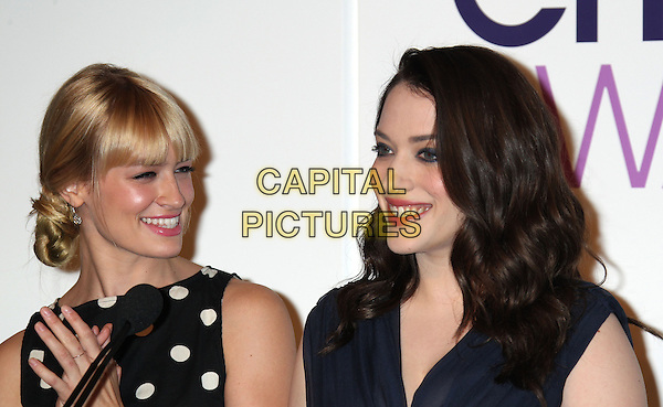5 November 2013 - Beverly Hills, California - Beth Behrs, Kat Dennings. People's Choice Awards 2014 Nominations Press Conference Held at The Paley Center for Media<br /> CAP/ADM/RE<br /> &copy;RE/AdMedia/Capital Pictures