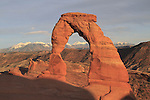 Afternoon at Delicate Arch, Arches National Park, Moab, UT.<br />