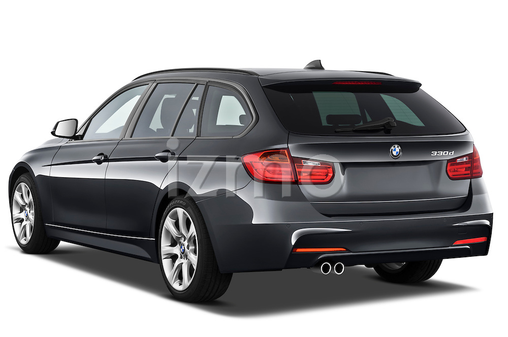 Rear three quarter view of a 2013 BMW 330d Touring Wagon